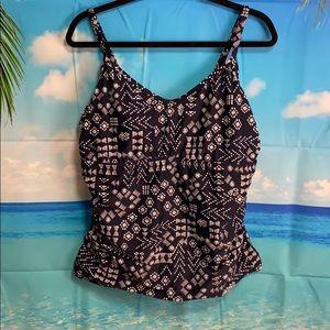 Kona Sol Blue Swim Top 18W #AA039